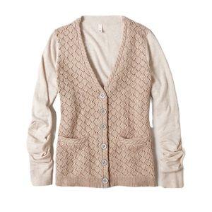 Anthropologie Moth Kay Pointelle Cardigan Sweater